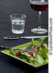 detail of a mixed salad