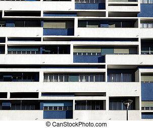 Detail of a modern building facade contemporary architecture