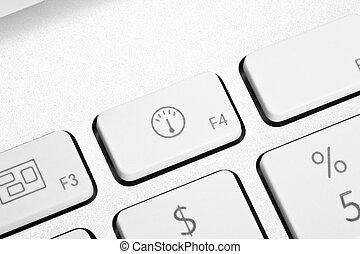 Detail of a modern computer keyboard