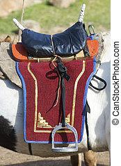 Mongolian saddle