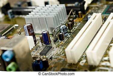 Detail of a motherboard