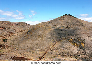 Detail of a mountain at the Madeira Island, Portugal