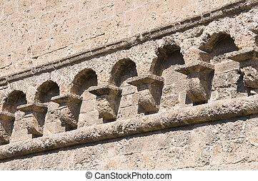 Detail of a Norman-swabian castle.