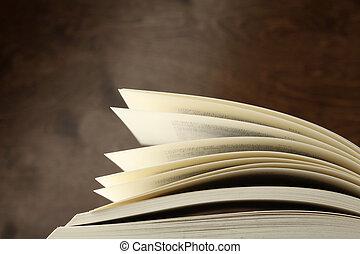 open book - detail of a open book