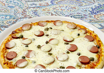 detail of a pizza