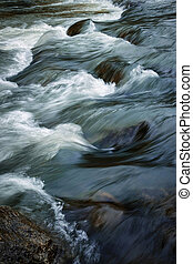 Detail of a rapid river