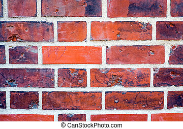 Detail of a red brickwall