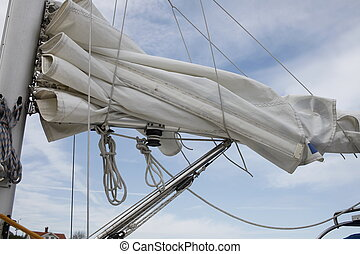 detail of a sail boat