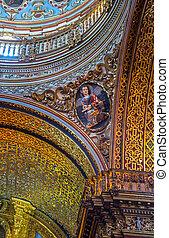 Detail of a saint in an old church