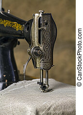 Detail of a sewing machine.