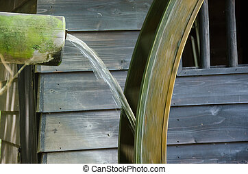 Detail of a small water mill