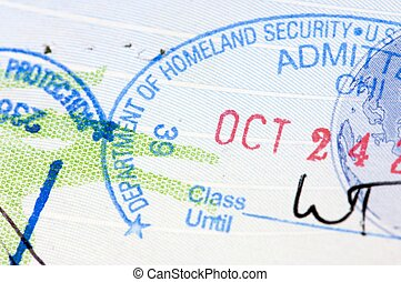 stamp duty - detail of a stamp duty in a passport