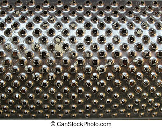 Detail of a steel grater