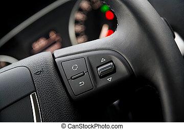 Detail of a steering wheel