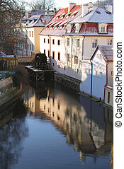 Detail of a street in Prague