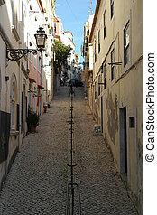 Detail of a street, Lisbon, Portugal