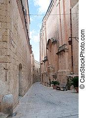 Detail of a streetof Mdina , Malta