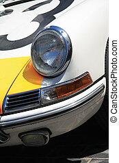 Detail of a vintage German sportscar