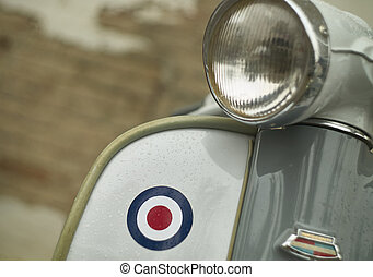 Detail of a vintage scooter