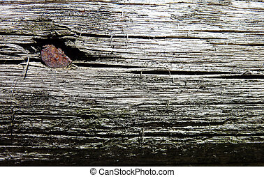 detail of a wooden beam