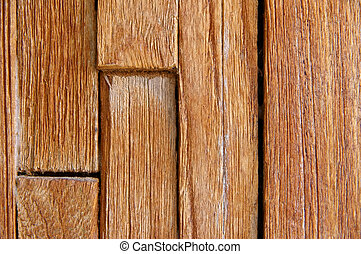 Detail of a wooden boards