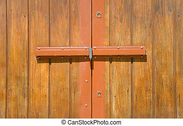 Detail of a wooden door.
