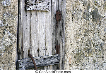 DETAIL OF ABANDONED HOUSE RURAL