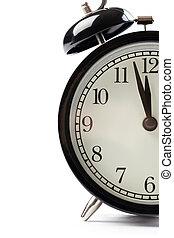 detail of alarm clock