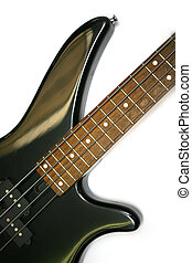 Detail Of An Electric bass Guitar With four Strings
