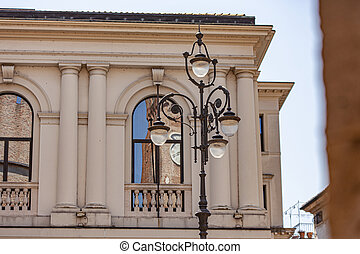 Detail of an historical building in Treviso