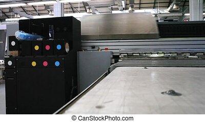 Industrial printer - Detail of an Industrial printer in...