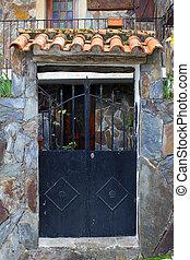 Detail of an iron door