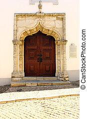 Detail of an old church door