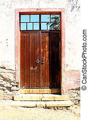 Detail of an old door