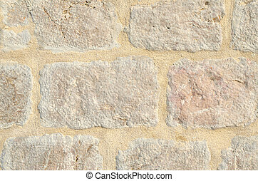 Detail of an stone wall