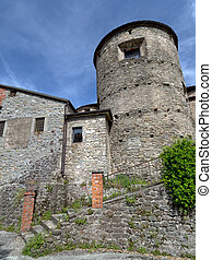 Detail of ancient medieval centre of Villafranca in Lunigiana, Italy.
