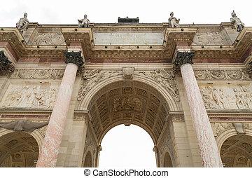 Detail of Arc de Triomphe Paris