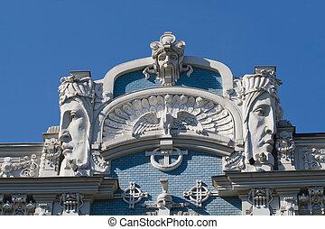 Detail of Art Nouveau building - Detail of Art Nouveau (...