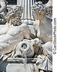 Detail of Athene fountain, Vienna - Detail of Athene...