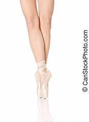 Detail of ballet dancer's feet