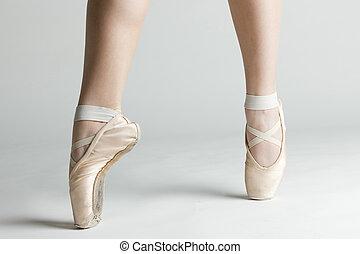 detail of ballet dancer