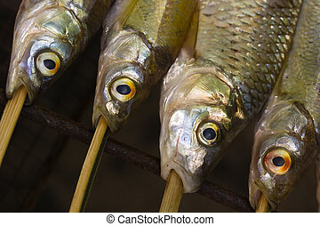 detail of barbecued fish (2)
