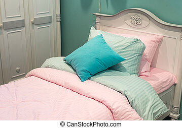 Detail of bedrooms for girls