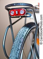 Detail of bicycle. Taken under studio light.