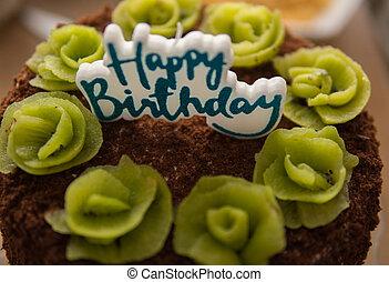 detail of birthday cake