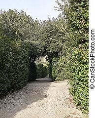 detail of boboli garden in florence