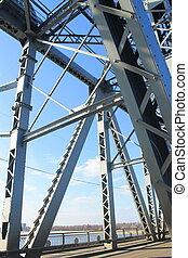 Detail of bridge in Kremenchug