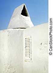 detail of building roof in ibiza