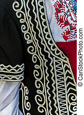Detail of Bulgarian folk costume for women 1