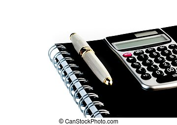 business pen on notepad